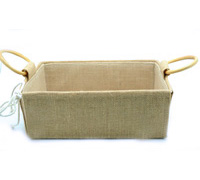 JUTE HAMPER TRAY with HANDLES-Small