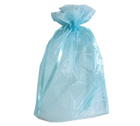 ORGANZA BAG LGE-Blue