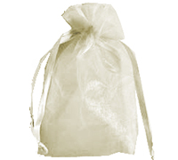 ORGANZA BAG SML-Antique White