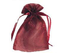 ORGANZA BAG SML-Burgundy