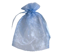 ORGANZA BAG SML-Dusty Blue
