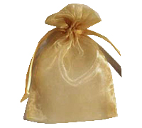 ORGANZA BAG SML-Gold