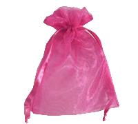 ORGANZA BAG SML-Hot Pink