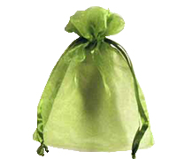 ORGANZA BAG SML-Lime