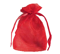 ORGANZA BAG SML-Red