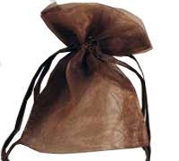 ORGANZA BAG XSML-Brown