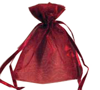 ORGANZA BAG XSML-Burgandy