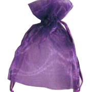 ORGANZA BAG XSML-Purple