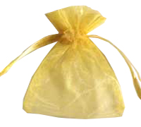 ORGANZA BAG XSML-Yellow