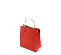 GIFT PAPER BAG TINY-Red Natural Kraft