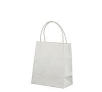GIFT PAPER BAG TINY - White Kraft