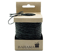 2mm COLOURED PAPER STRING-Black