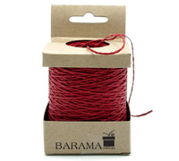 2mm COLOURED PAPER STRING-Red