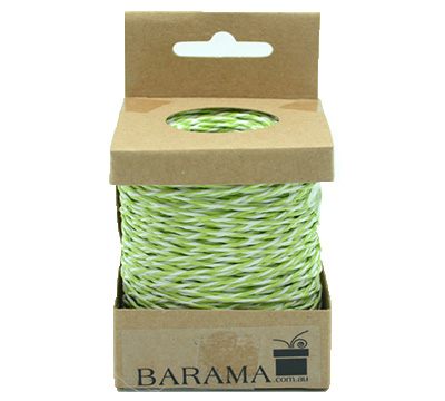 2mm T TONE PAPER STRING-Lime/White