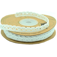 9mm COTTON LACE TRIM-White