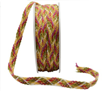 9mm INDIAN WOVEN BRAID-Autumn Tones