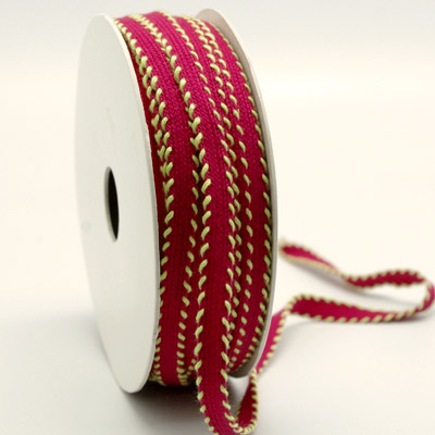 9mm CONTRAST OVERSTITCH-Hot Pink/Lime
