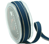 10mm CONTRASTING WEAVE-Navy/Stone