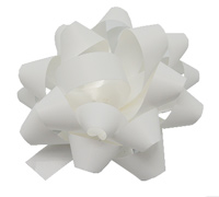 10mm SATIN TEAR BOW(6.5)-White