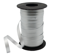 10mm SATIN TEAR RIBBON-Metallic Silver