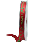 10mm SEASONS GREETINGS-Red/Green