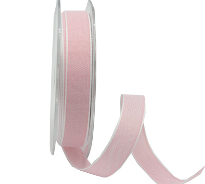 15mm PASTAL SHADES TAPE-Pale Pink/White