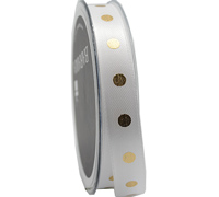 15mm METALLIC SPOT 20m-Gold/White