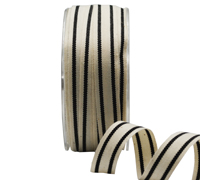 15mm SUMMER CANVAS STRIPE-Black