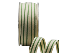 15mm SUMMER CANVAS STRIPE-Green