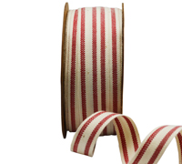 15mm SUMMER CANVAS STRIPE-Red