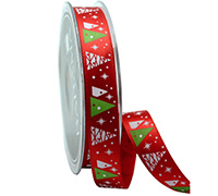 R16mm FESTIVE XMAS TREES-Red/White/Green