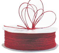 1mm JUTE CORD-Red