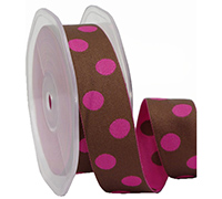 25mm DOUBLE SIDED SPOTS-Hot Pink/Chocolate