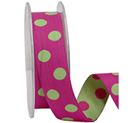 25mm DOUBLE SIDED SPOTS-Hot Pink/Lime