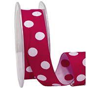 25mm DOUBLE SIDED SPOTS-White/Red