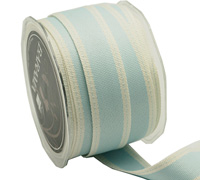 25mm WOVEN EDGE STITCHED-Pale Blue