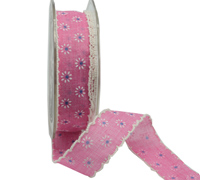 25mm SCALLOPED EDGE DAISY-Pink