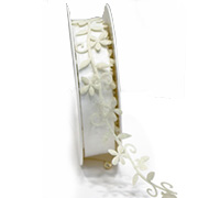 25mm SPRING VINE TRIM-White