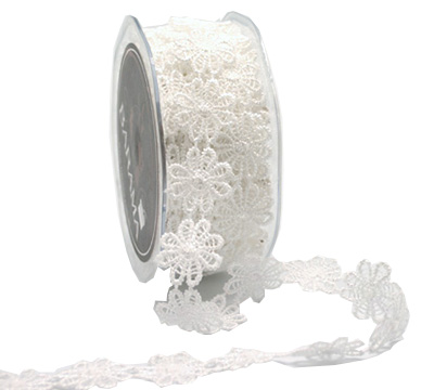 25mm FLOWER LACE TRIM-Antique White