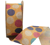 38mm CE POLKA DOTS ON-Yellow