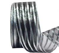 38mm W/E METALLIC STRIP-Black/Silver