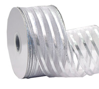 38mm W/E METALLIC STRIP-Silver/Silver