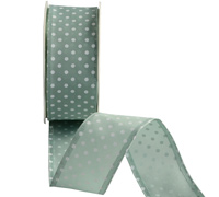 38mm W/E PRETTY POLKA - SAGE/WHITE