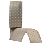 38mm W/E PRETTY POLKA - TAUPE/WHITE