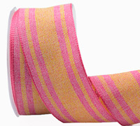 38mm W/E CANDYSTRIPE-Hot Pink/Yellow