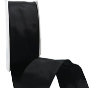 40mm WIRED PLAIN TAFFETA-Black