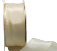 40mm WIRED PLAIN TAFFETA-Cream