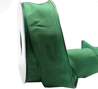 40mm WIRED PLAIN TAFFETA-Emerald