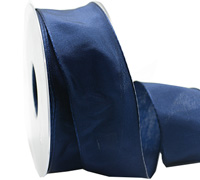 40mm WIRED PLAIN TAFFETA-Navy