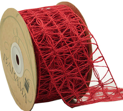 50mm JUTE OPENWEAVE-Red